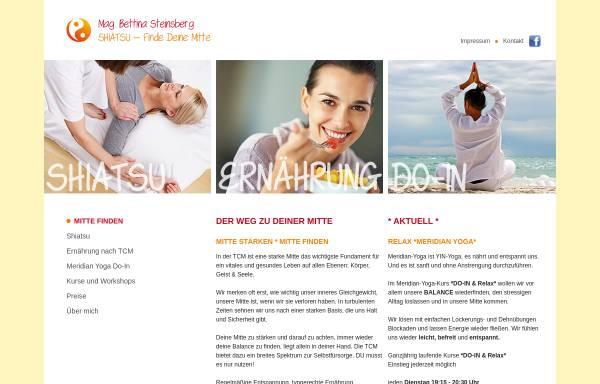Vorschau von www.shiatsu-mittefinden.at, Steinsberg Bettina
