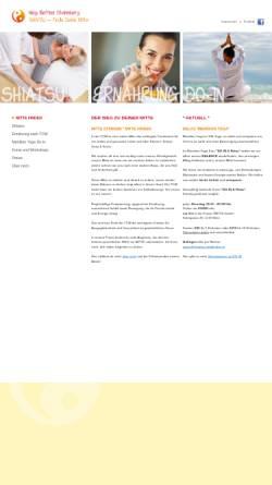Vorschau der mobilen Webseite www.shiatsu-mittefinden.at, Steinsberg Bettina