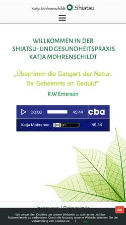 Vorschau der mobilen Webseite www.shiatsu4you.info, Mohrenschildt Katja