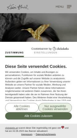 Vorschau der mobilen Webseite www.meintempo.at, Abriel Karin