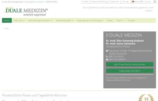 Vorschau von www.duale-medizin.de, Duale Medizin GmbH Dr. med. Elke Seebach
