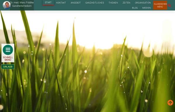 Vorschau von www.ganzheitsarzt.de, Dr. med. Marc Fiddike