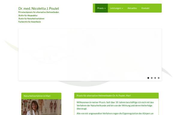 Vorschau von www.dr-np.de, Dr. med. Nicoletta J. Poulet