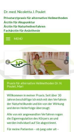 Vorschau der mobilen Webseite www.dr-np.de, Dr. med. Nicoletta J. Poulet