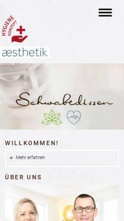 Vorschau der mobilen Webseite www.dr-schwabedissen.de, Gemeinschaftspraxis Schwabedissen