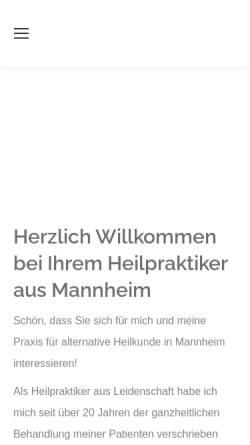 Vorschau der mobilen Webseite www.heilpraktikermannheim.de, Thorsten Kettner
