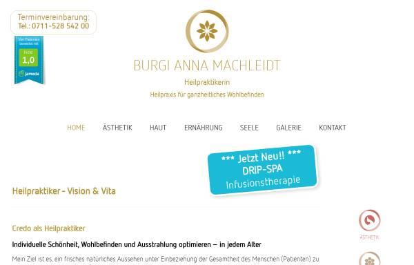 Vorschau von www.heilpraktikerin-stuttgart.com, Burgi Anna Machleidt