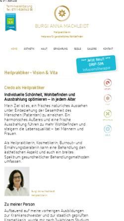 Vorschau der mobilen Webseite www.heilpraktikerin-stuttgart.com, Burgi Anna Machleidt