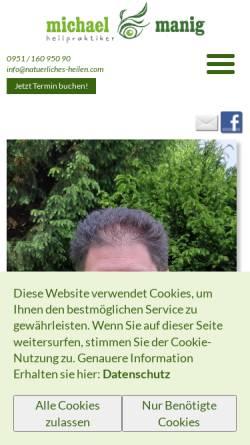 Vorschau der mobilen Webseite www.natuerliches-heilen.com, Naturheilpraxis Michael Manig