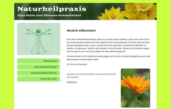 Vorschau von www.naturheilpraxis-schweisthal.de, Naturheilpraktiker Thomas Schweisthal
