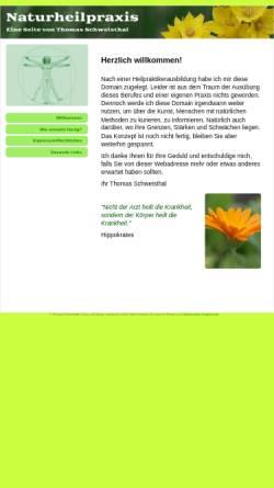 Vorschau der mobilen Webseite www.naturheilpraxis-schweisthal.de, Naturheilpraktiker Thomas Schweisthal