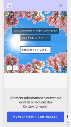 Vorschau der mobilen Webseite www.schwingfeldtherapie.de, Margit Schorer