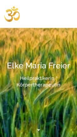 Vorschau der mobilen Webseite www.naturheilpraxis-freier.de, Elke Maria Freier