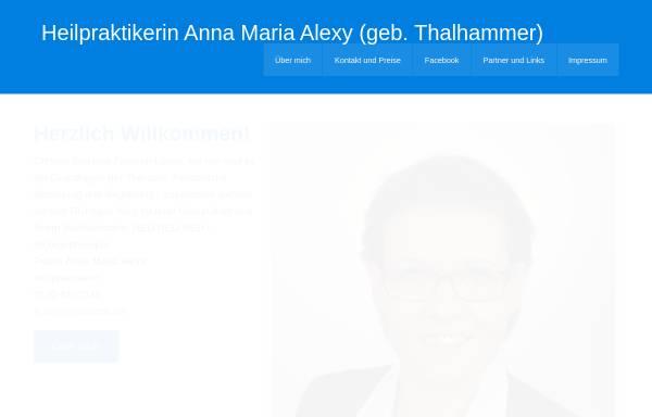 Vorschau von www.alexy-praxis.de, Anna Maria Alexy