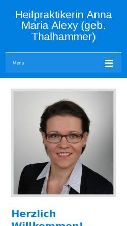 Vorschau der mobilen Webseite www.alexy-praxis.de, Anna Maria Alexy