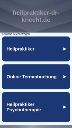 Vorschau der mobilen Webseite www.heilpraktiker-dr-knecht.de, Dr. med. vet. G. Knecht