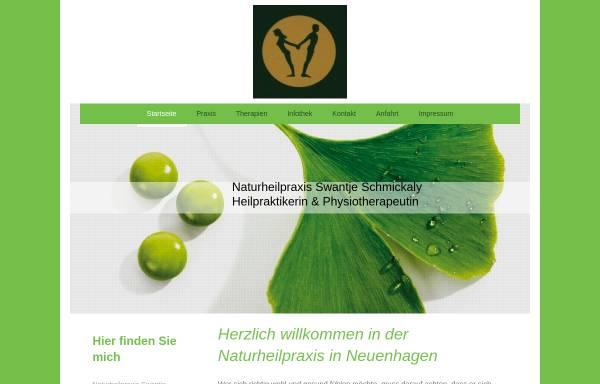 Vorschau von www.naturheilpraxis-schmickaly.de, Swantje Schmickaly