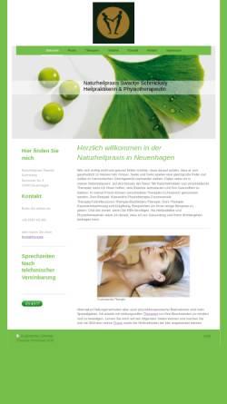 Vorschau der mobilen Webseite www.naturheilpraxis-schmickaly.de, Swantje Schmickaly