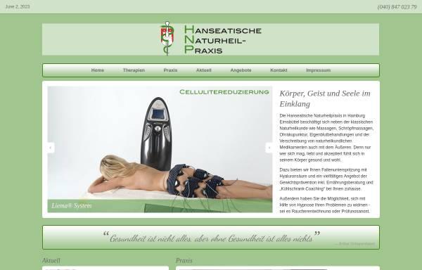 Vorschau von www.hanseatische-naturheilpraxis.de, Hanseatische Naturheilpraxis – Virginia E. Rullmann