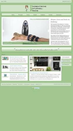 Vorschau der mobilen Webseite www.hanseatische-naturheilpraxis.de, Hanseatische Naturheilpraxis – Virginia E. Rullmann