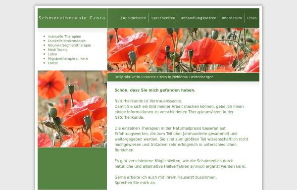 Vorschau von www.schmerztherapie-czora.de, Susanne Czora