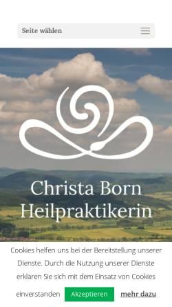 Vorschau der mobilen Webseite heilpraxisborn.de, Christa Born
