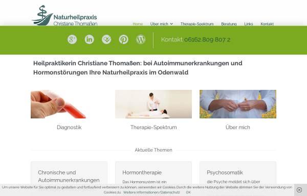 Vorschau von heilpraktikerin-habitzheim.de, Christiane Thomaßen