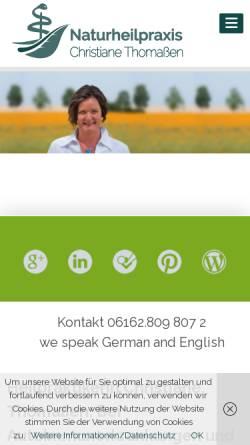 Vorschau der mobilen Webseite heilpraktikerin-habitzheim.de, Christiane Thomaßen