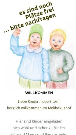 Vorschau der mobilen Webseite www.melibokushof.de, Melibokushof, Therapeutikum-Atelier-Kulturstätte
