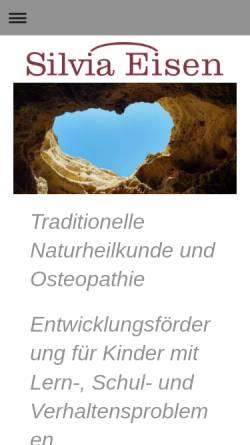 Vorschau der mobilen Webseite www.silvia-eisen.de, Silvia Eisen