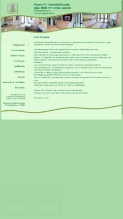 Vorschau der mobilen Webseite www.naturheilpraxis-jaecks.de, Naturheilpraxis Dipl. Biol. A. Jaecks