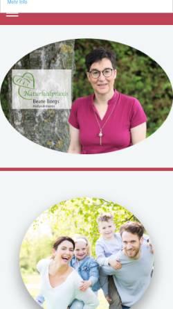 Vorschau der mobilen Webseite www.praxisborgs.de, Naturheilpraxis Beate Borgs