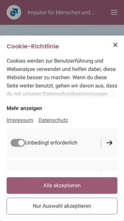 Vorschau der mobilen Webseite www.karola-seeck.de, Karola Seek Psychotherapie HpG