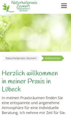 Vorschau der mobilen Webseite naturheilpraxis-zeunert.de, Naturheilpraxis Karin Zeunert