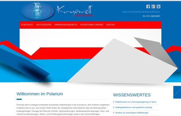 Vorschau von www.kryowell.de, Kryowell - Das Polarium