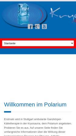 Vorschau der mobilen Webseite www.kryowell.de, Kryowell - Das Polarium