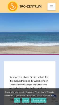 Vorschau der mobilen Webseite www.taolife.de, Tao-Zentrum Mannheim