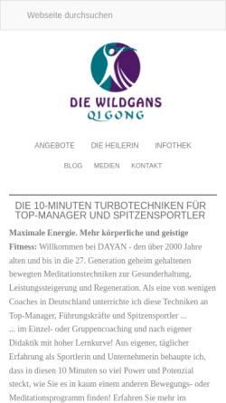 Vorschau der mobilen Webseite www.wildgans-qigong.de, Die Wildgans Qigong