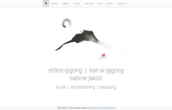 Vorschau von www.qigong-stille.de, Sabine Jakob