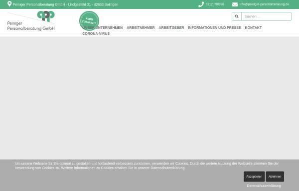 Vorschau von peiniger-personalberatung.de, Peiniger Personalberatung GmbH