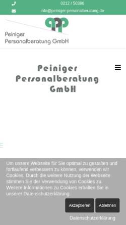 Vorschau der mobilen Webseite peiniger-personalberatung.de, Peiniger Personalberatung GmbH