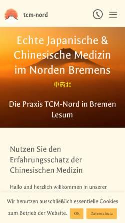 Vorschau der mobilen Webseite tcm-nord.de, TCM Nord