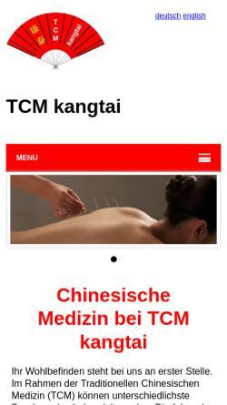 Vorschau der mobilen Webseite www.kangtai.ch, TCM kangtai