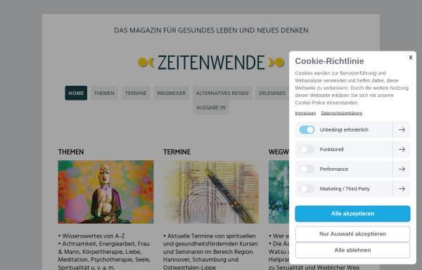 Vorschau von www.magazin-zeitenwende.de, Zeitenwende