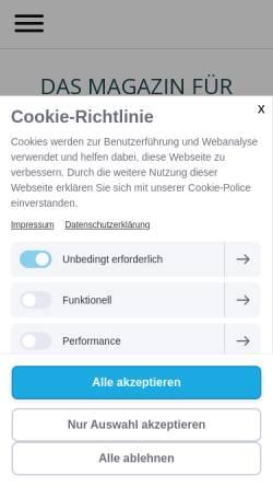 Vorschau der mobilen Webseite www.magazin-zeitenwende.de, Zeitenwende