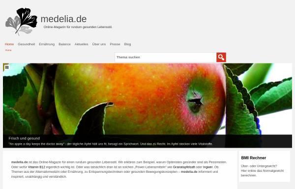 Vorschau von medelia.de, Medelia.de