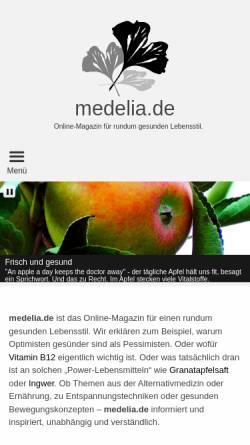 Vorschau der mobilen Webseite medelia.de, Medelia.de