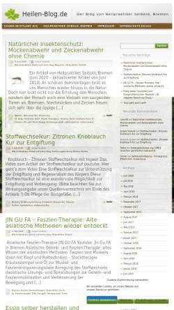 Vorschau der mobilen Webseite www.heilen-blog.de, Heilen Blog