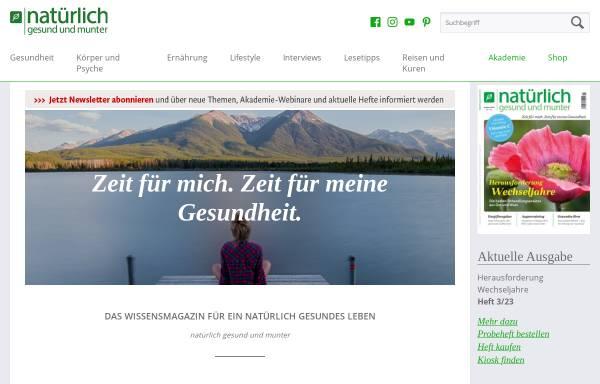 Vorschau von www.ngum.de, Natürlich gesund und munter