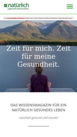 Vorschau der mobilen Webseite www.ngum.de, Natürlich gesund und munter